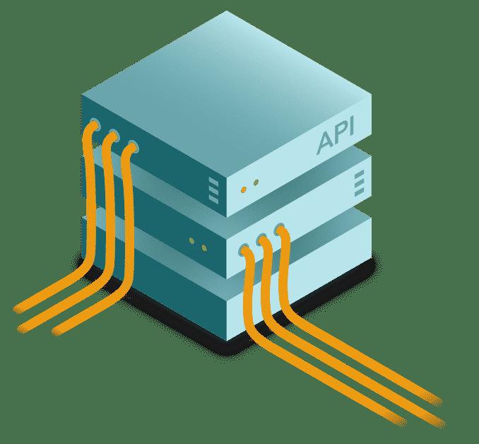 illustration d'un serveur utilisant des api